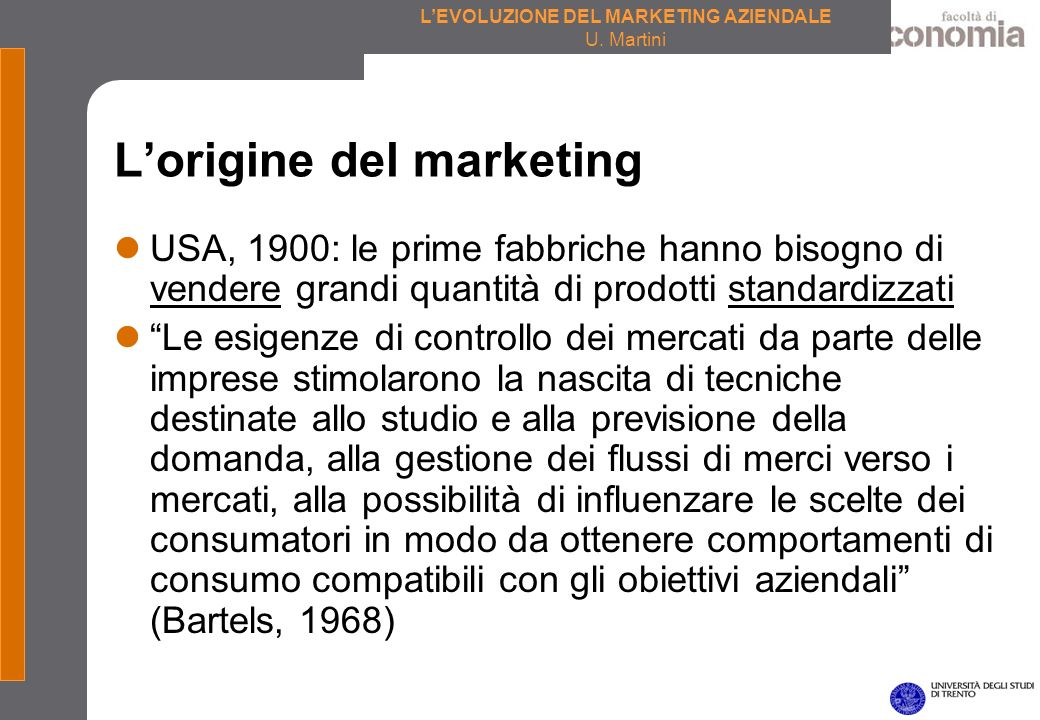 L'origine del marketing