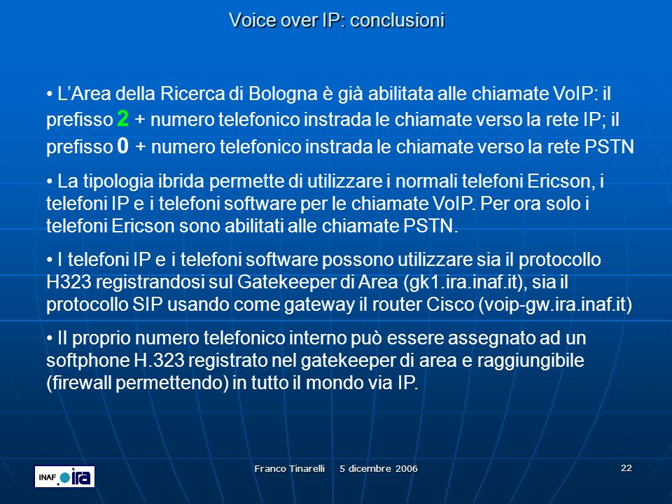 Voice over IP: conclusioni