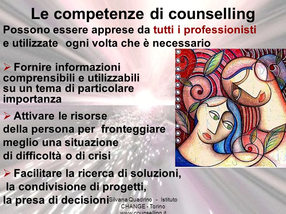 Le competenze di counselling