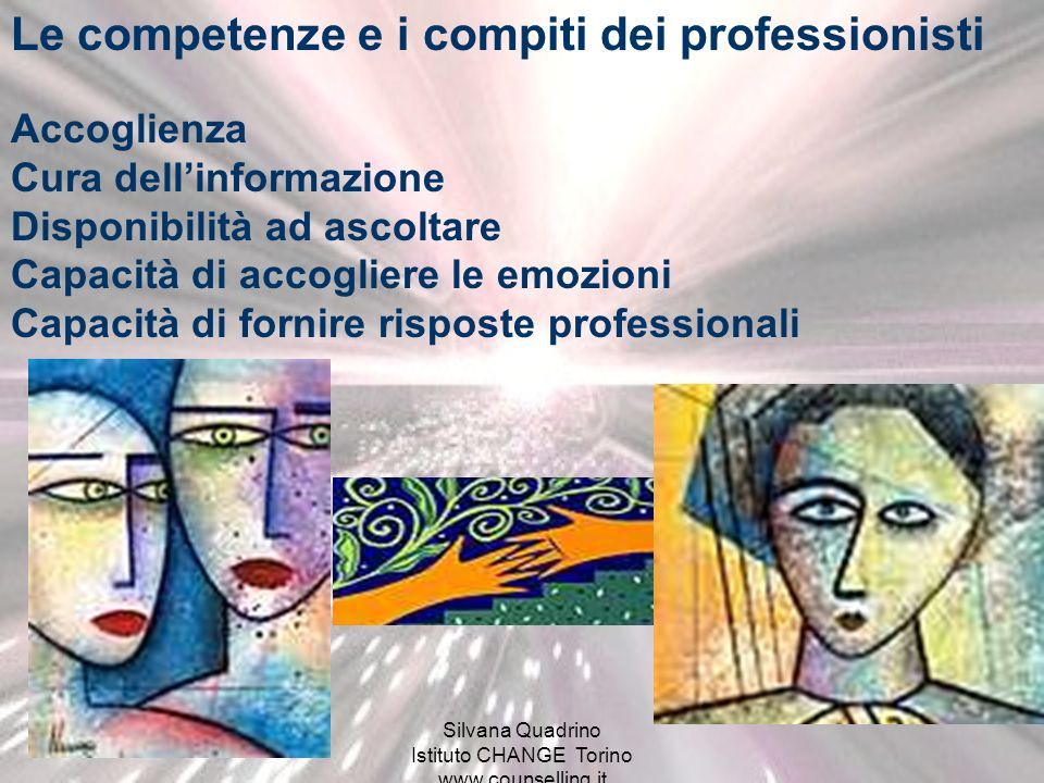 Silvana Quadrino Istituto CHANGE Torino www.counselling.it