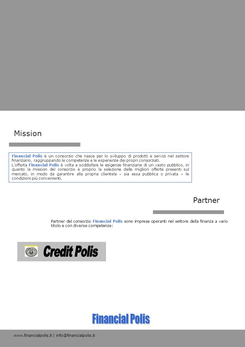 Financial Polis Credit Polis Mission Partner