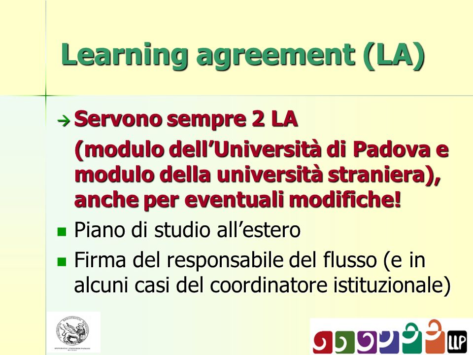 Learning agreement (LA)