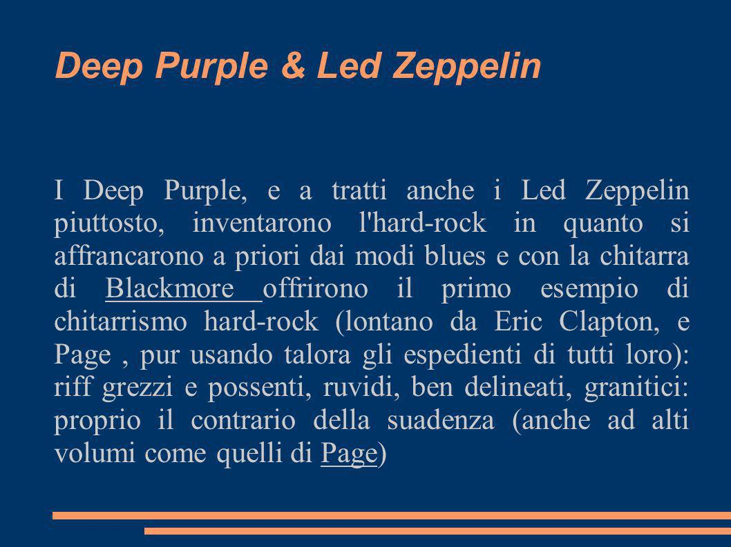 Deep Purple & Led Zeppelin
