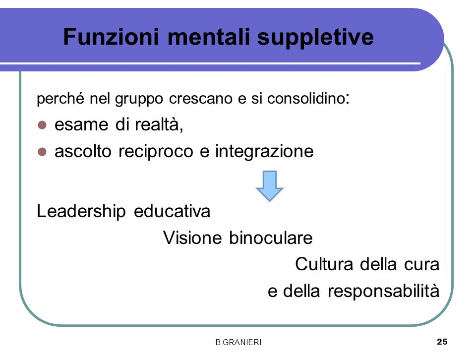 Funzioni mentali suppletive