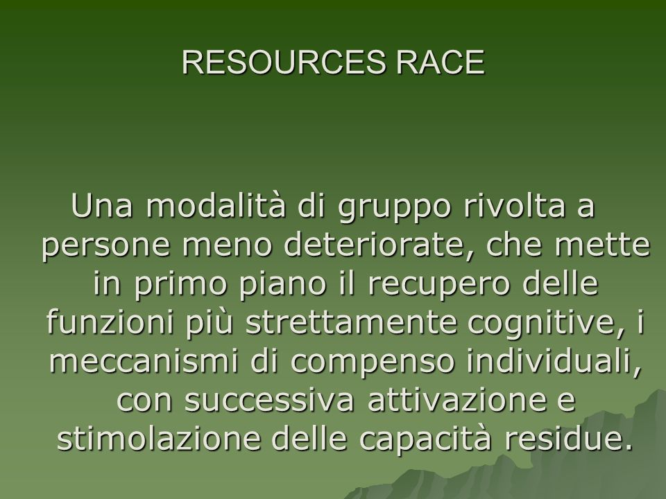 RESOURCES RACE