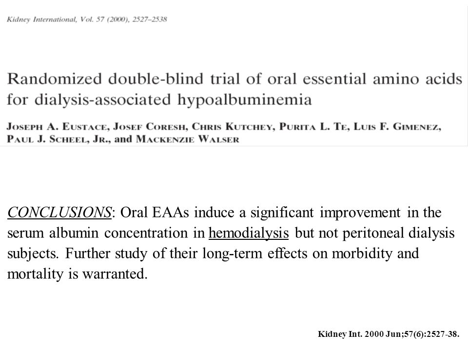 CONCLUSIONS: Oral EAAs induce a significant improvement in the