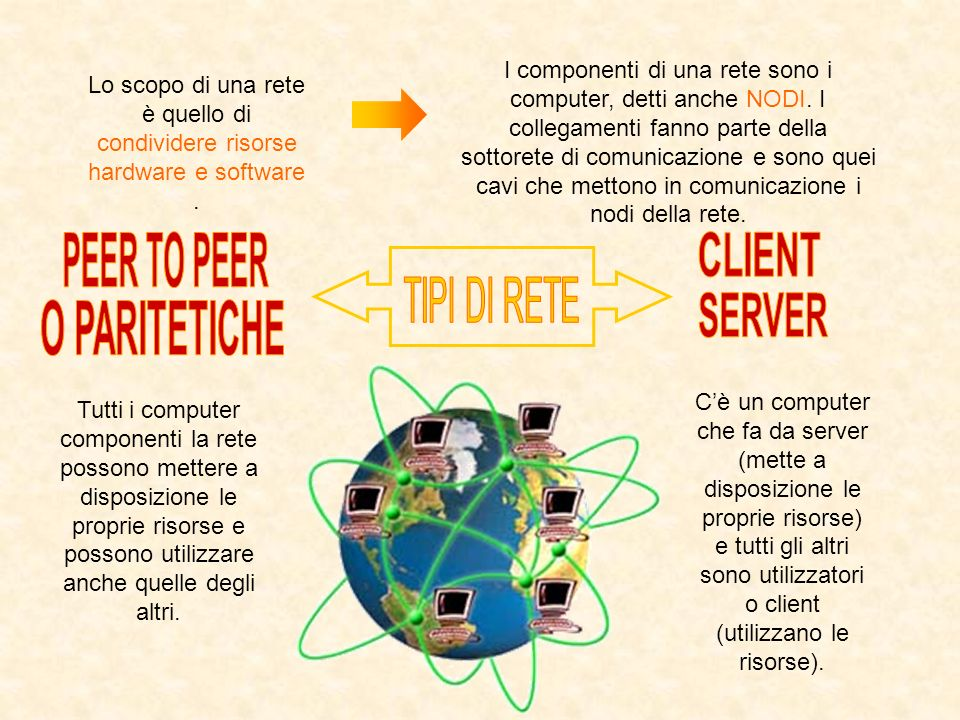 PEER TO PEER CLIENT SERVER O PARITETICHE