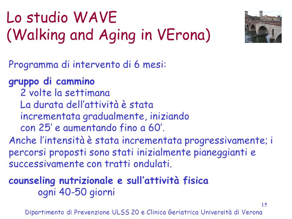 (Walking and Aging in VErona)