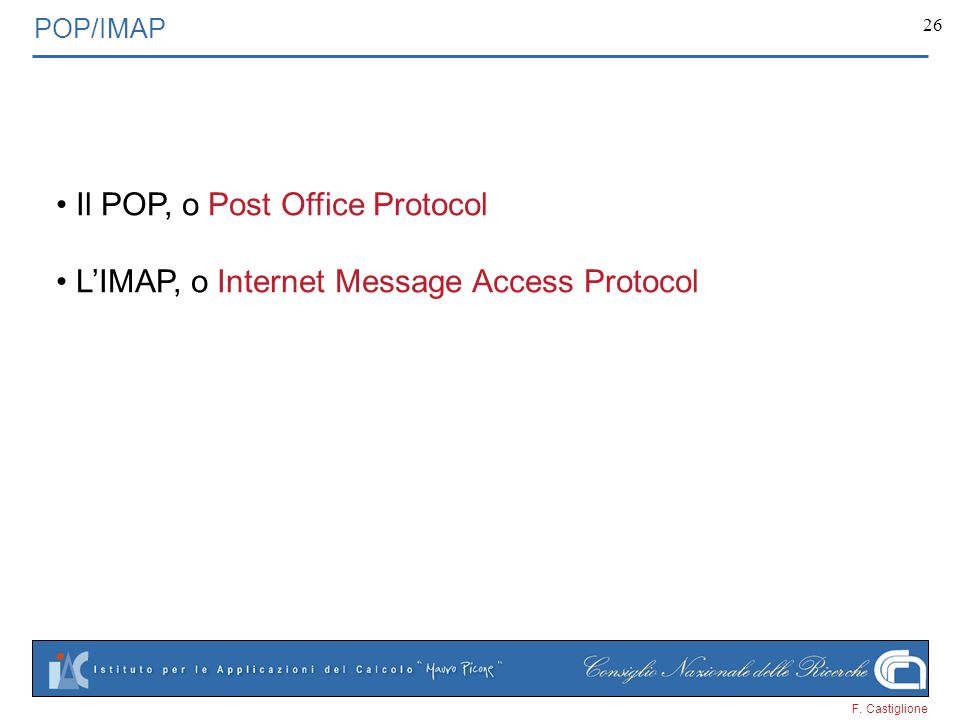Il POP, o Post Office Protocol