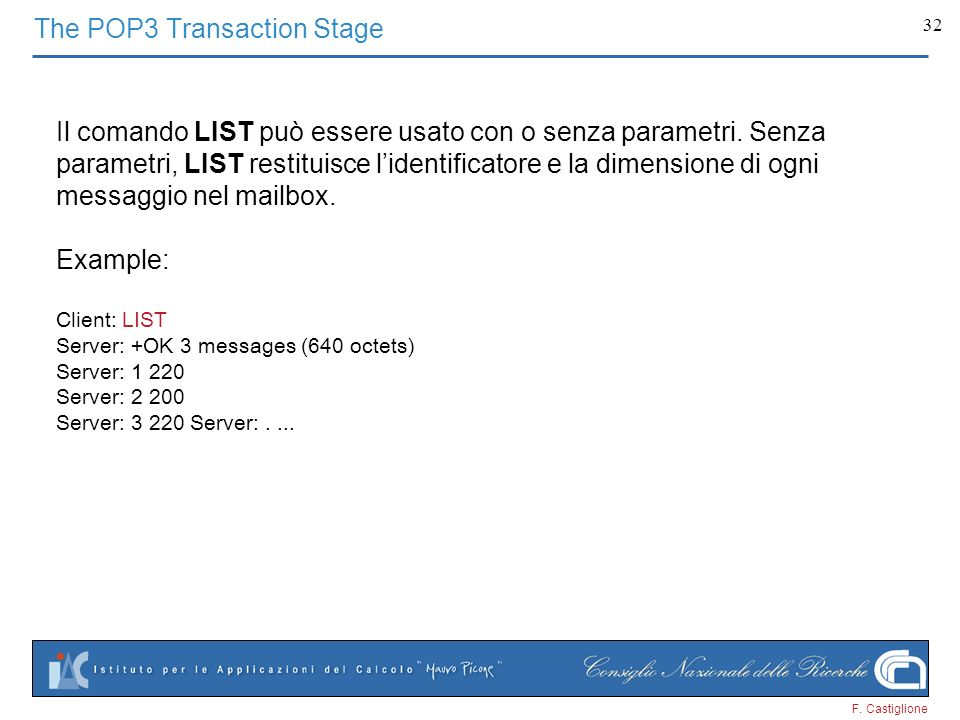 The POP3 Transaction Stage