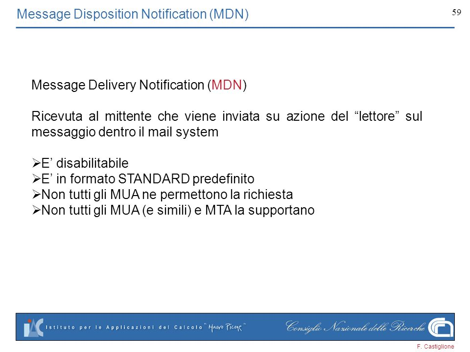Message Disposition Notification (MDN)