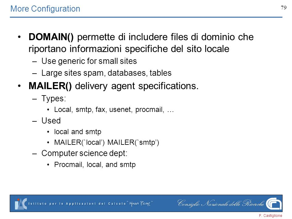 MAILER() delivery agent specifications.