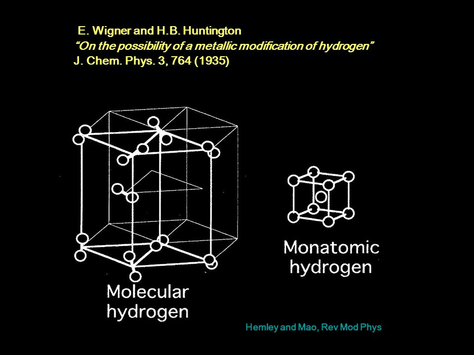 E. Wigner and H.B. Huntington