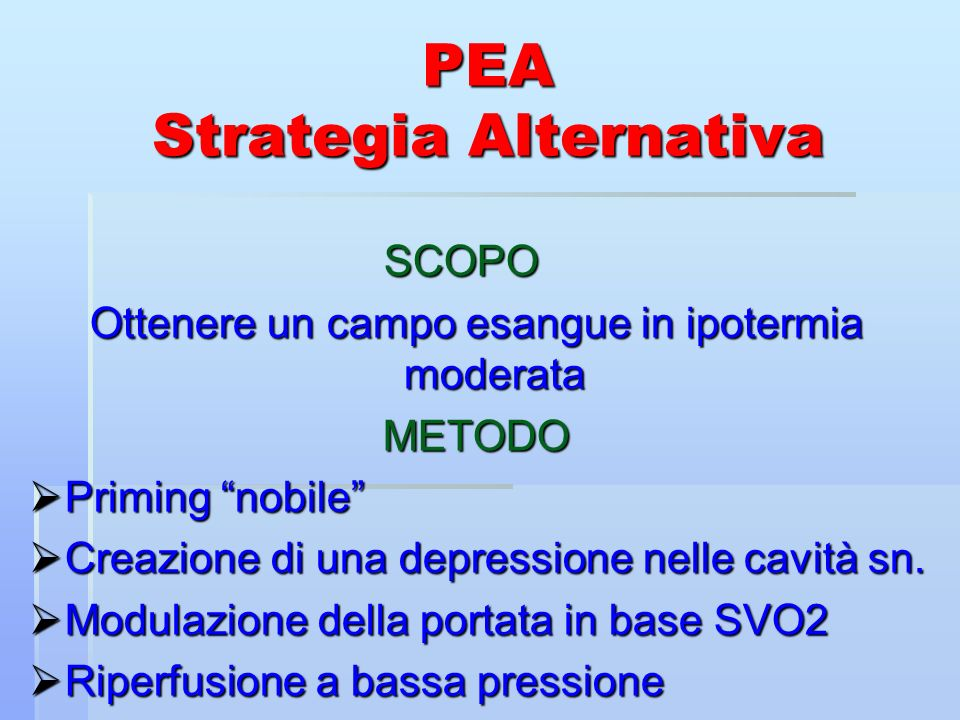 PEA Strategia Alternativa