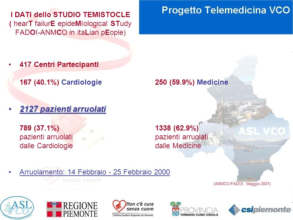 I DATI dello STUDIO TEMISTOCLE ( hearT failurE epideMIological STudy FADOI-ANMCO in itaLian pEople)
