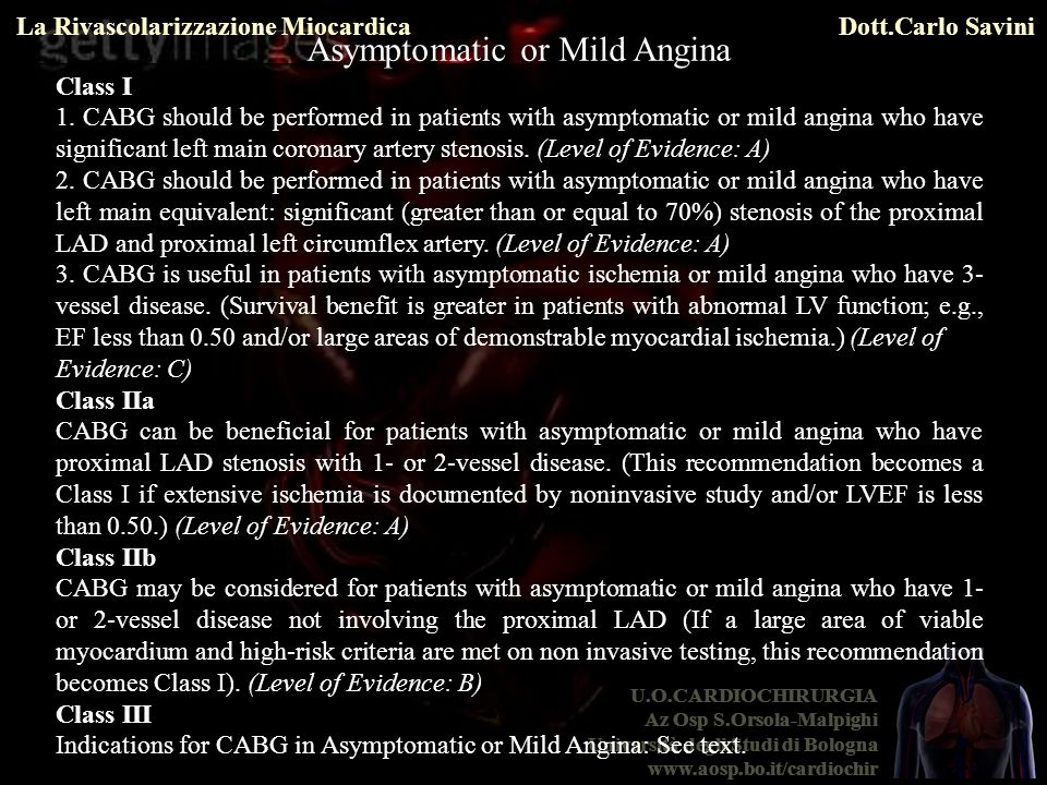 Asymptomatic or Mild Angina