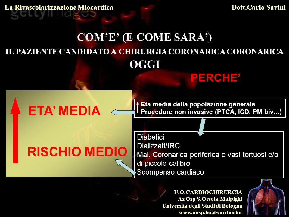 ETA' MEDIA RISCHIO MEDIO