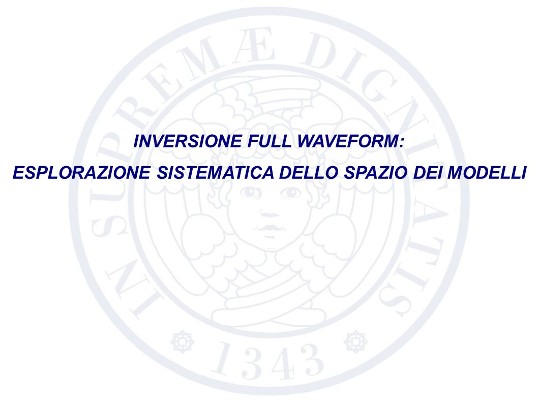 INVERSIONE FULL WAVEFORM: