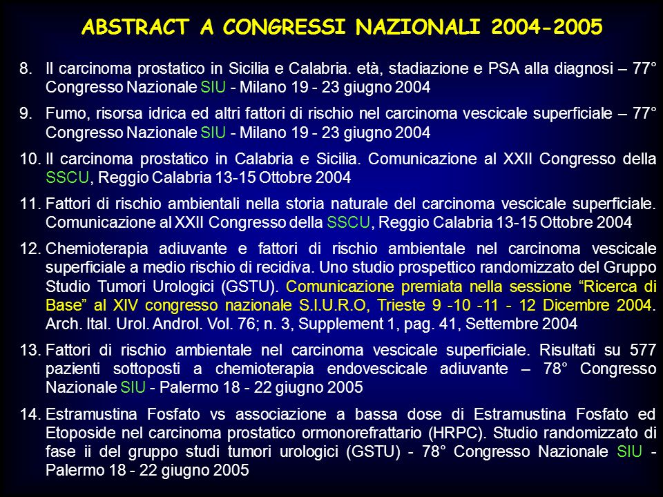 ABSTRACT A CONGRESSI NAZIONALI