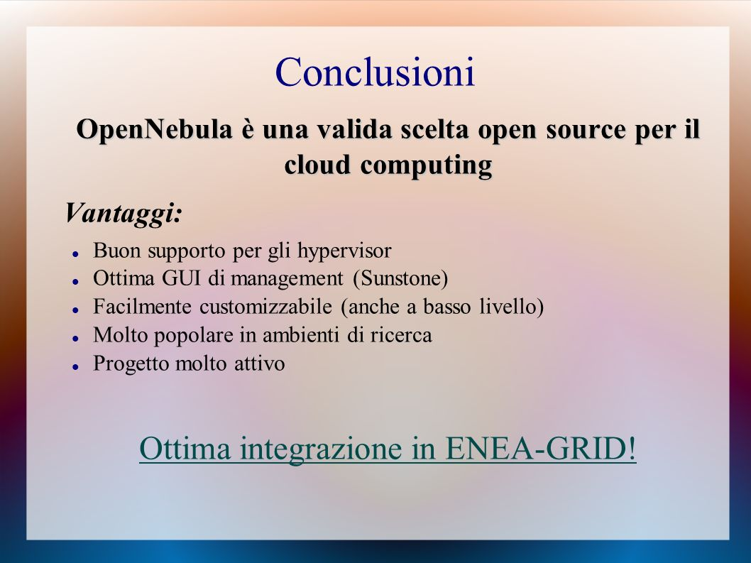 OpenNebula è una valida scelta open source per il cloud computing
