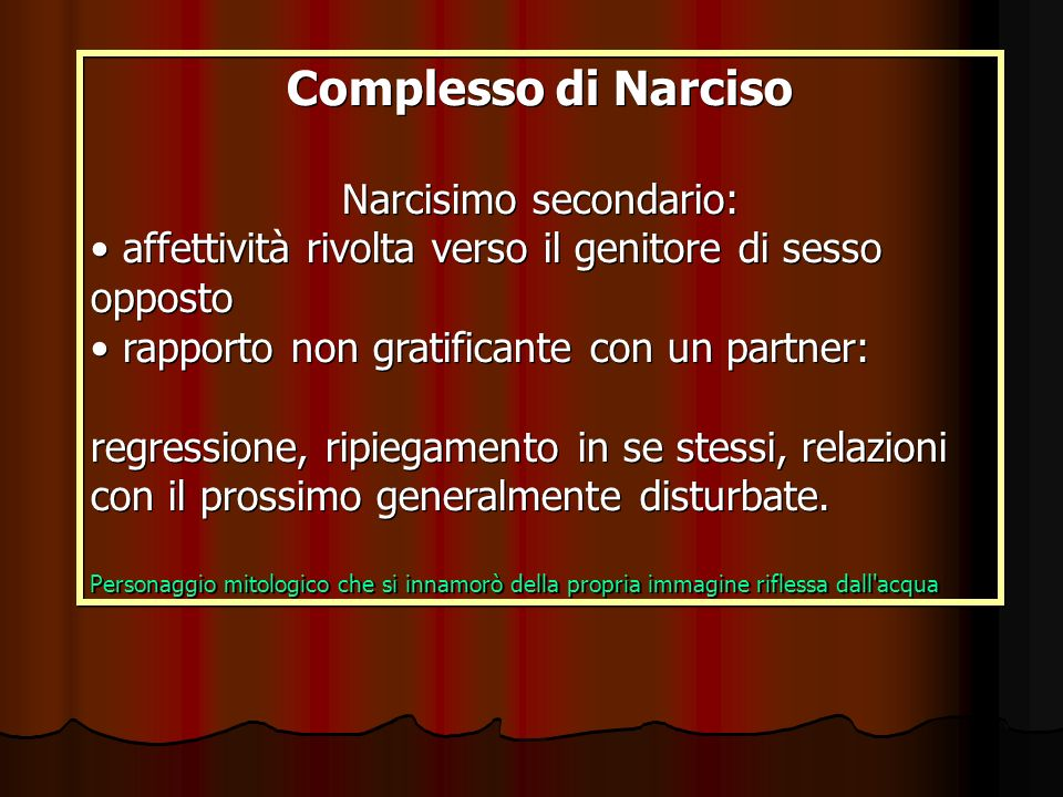 Narcisimo secondario: