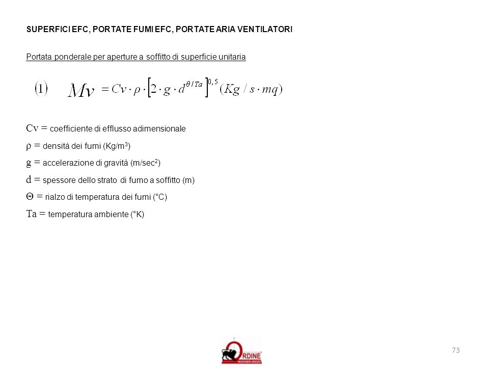 Cv = coefficiente di efflusso adimensionale
