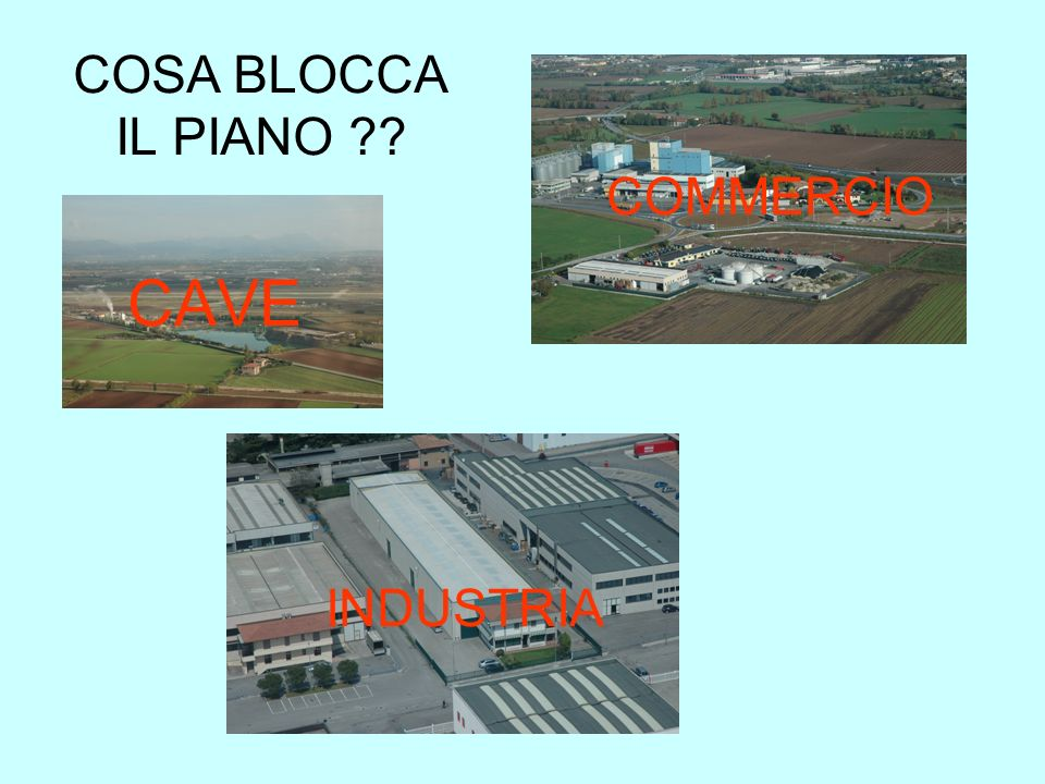 COSA BLOCCA IL PIANO COMMERCIO CAVE INDUSTRIA