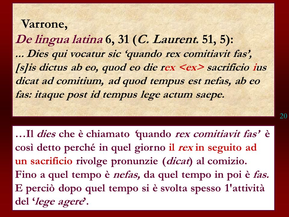 De lingua latina 6, 31 (C. Laurent. 51, 5):