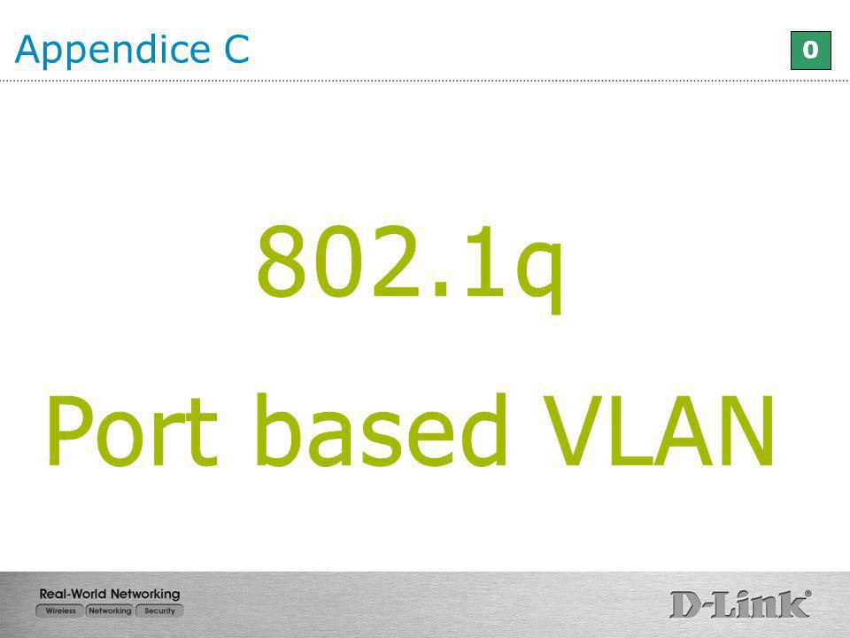 Appendice C 802.1q Port based VLAN