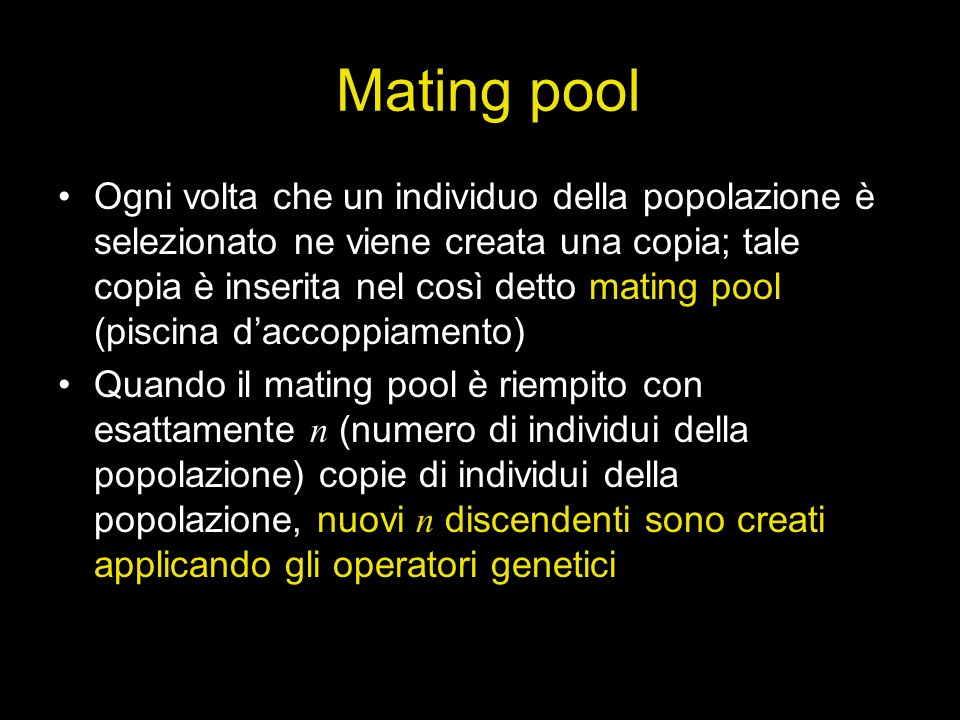Mating pool