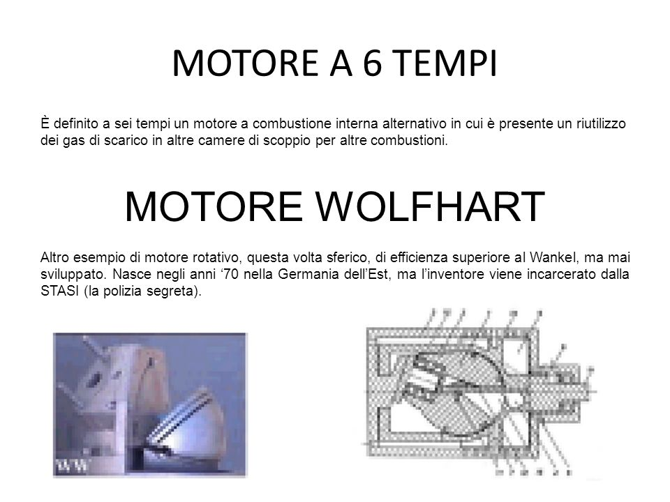 MOTORE A 6 TEMPI MOTORE WOLFHART
