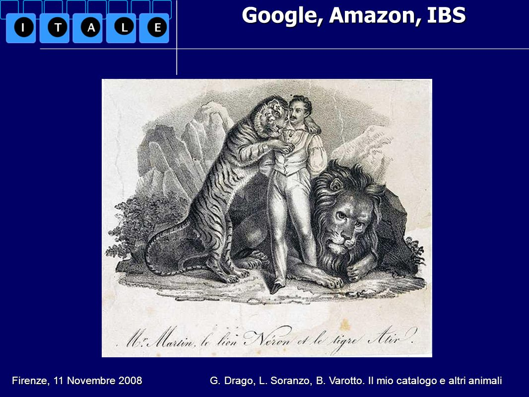 Google, Amazon, IBS Firenze, 11 Novembre 2008