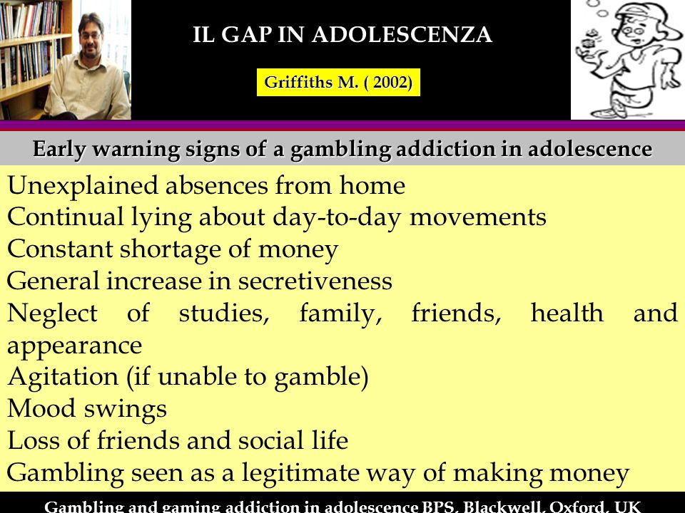 Early warning signs of a gambling addiction in adolescence