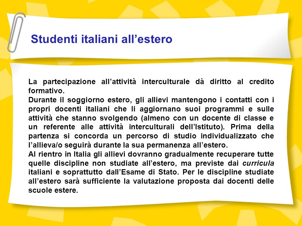 Studenti italiani all'estero