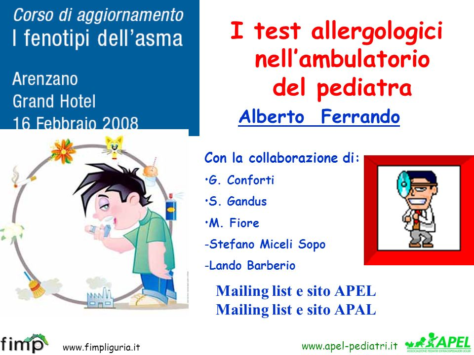 I test allergologici nell'ambulatorio del pediatra