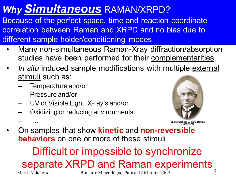 Why Simultaneous RAMAN/XRPD