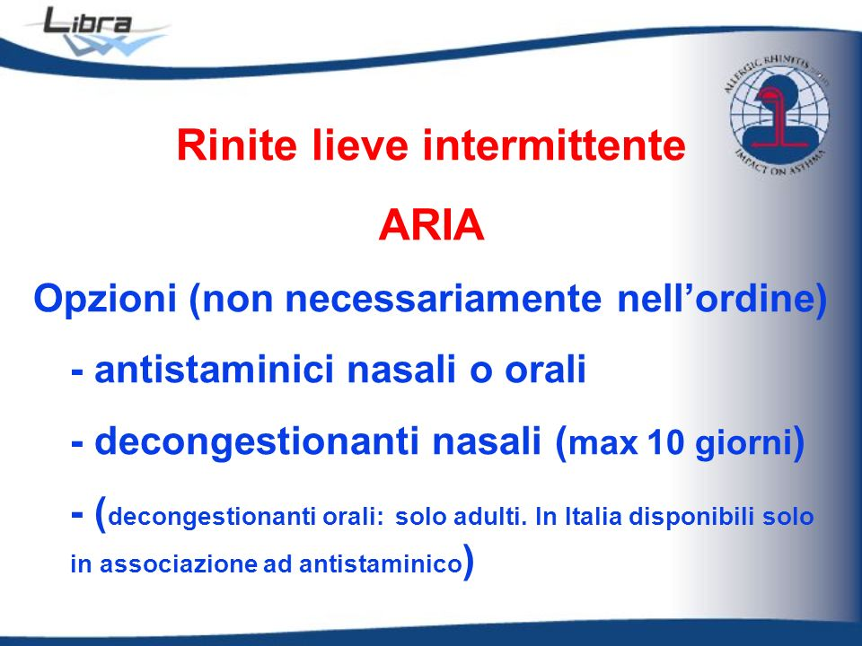 Rinite lieve intermittente
