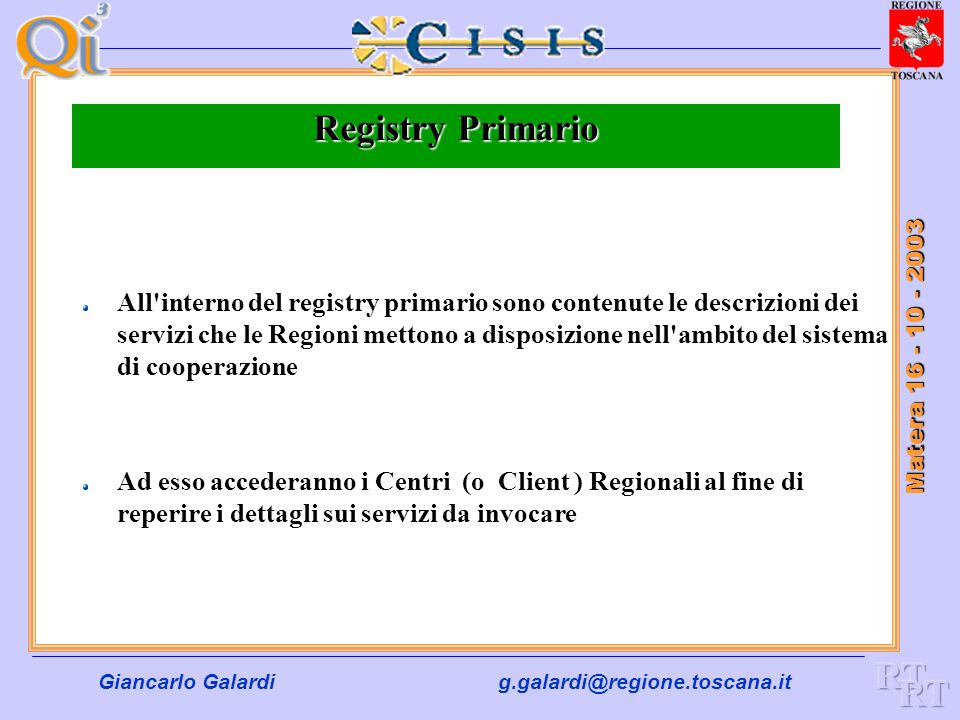 Registry Primario RT RT