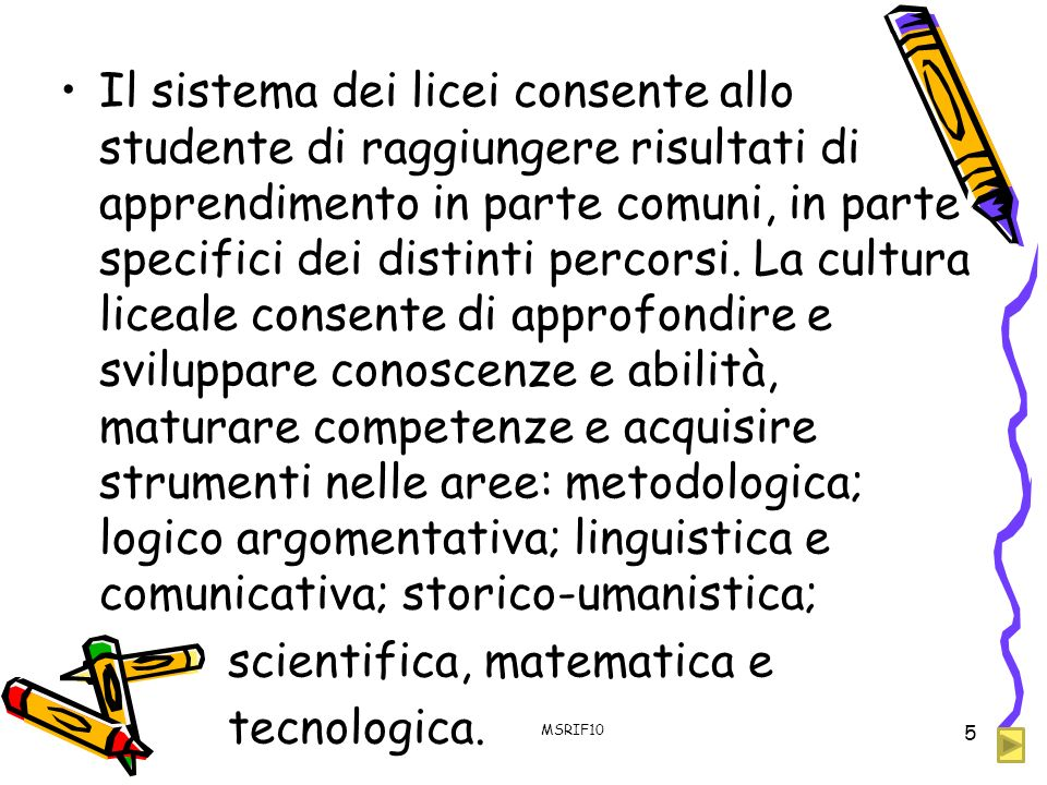 scientifica, matematica e tecnologica.