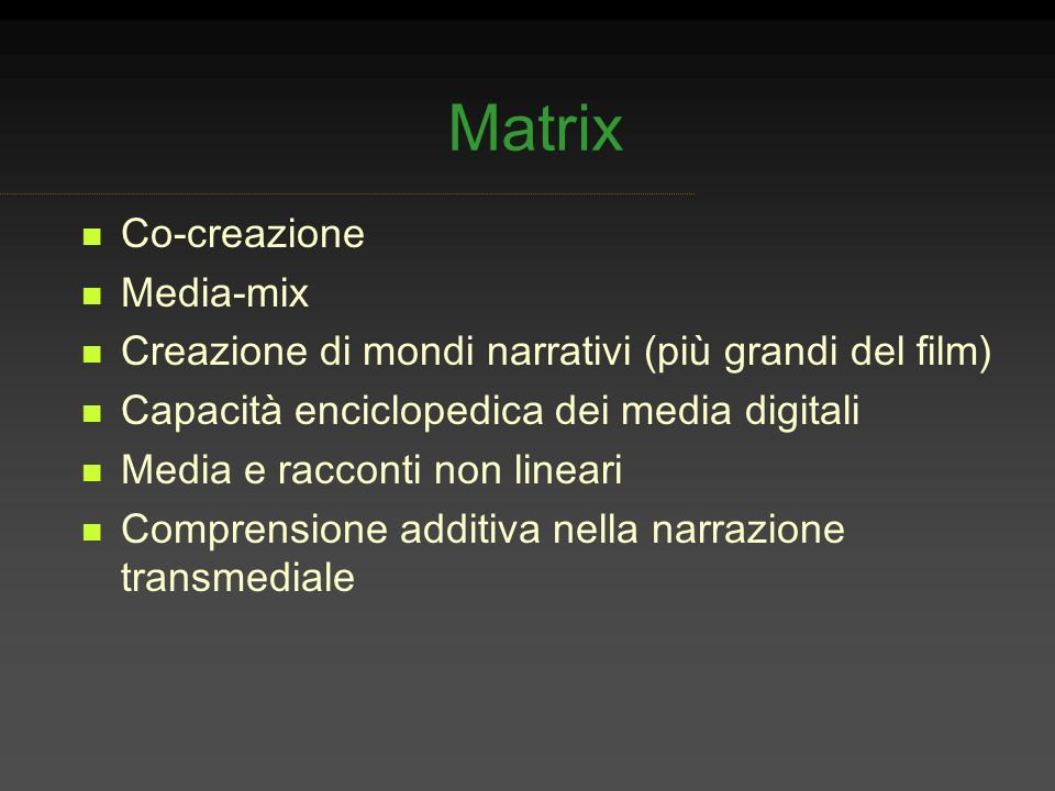 Matrix Co-creazione Media-mix