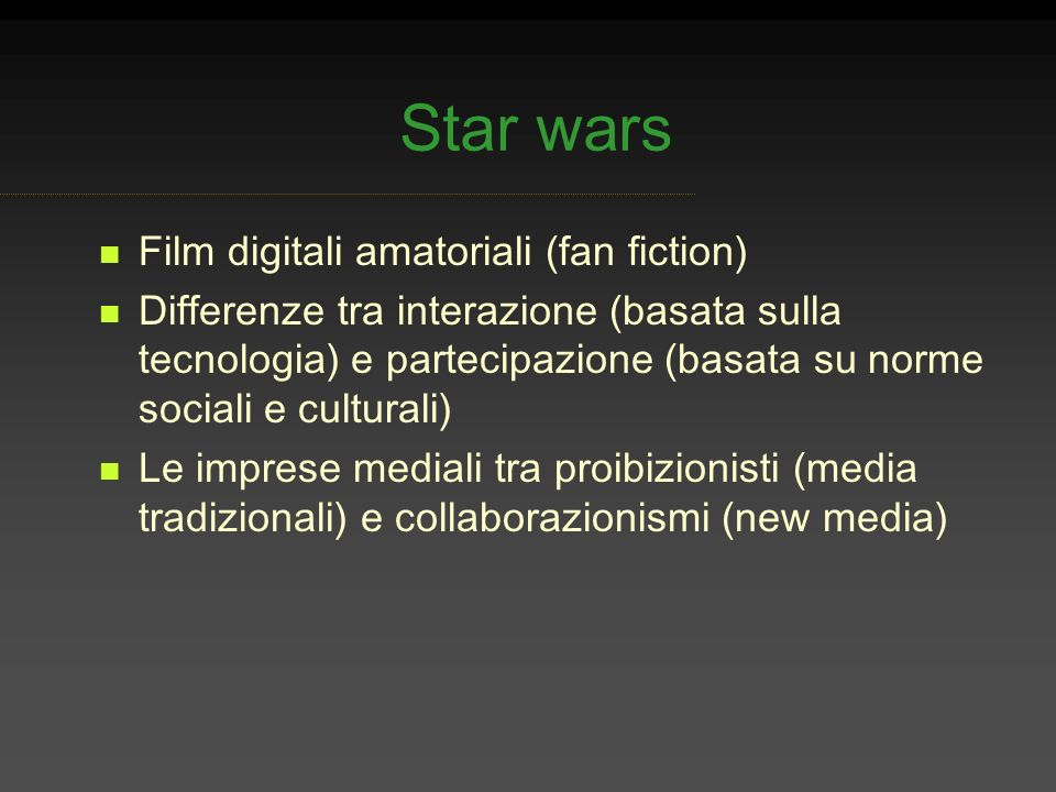 Star wars Film digitali amatoriali (fan fiction)