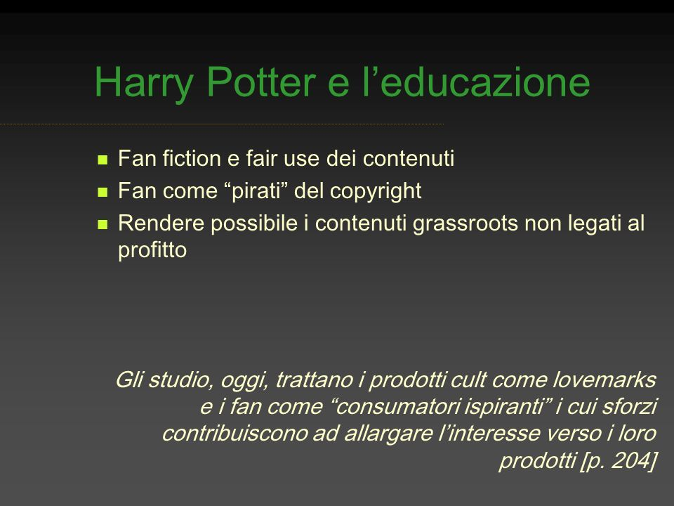 Harry Potter e l'educazione
