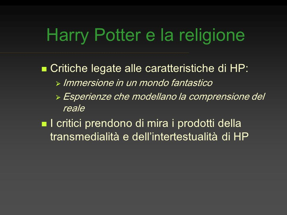 Harry Potter e la religione