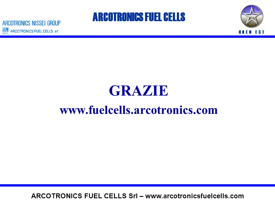 GRAZIE ARCOTRONICS FUEL CELLS