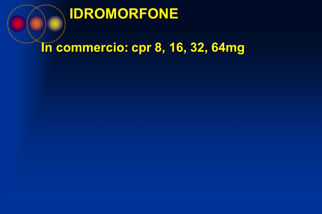 IDROMORFONE In commercio: cpr 8, 16, 32, 64mg