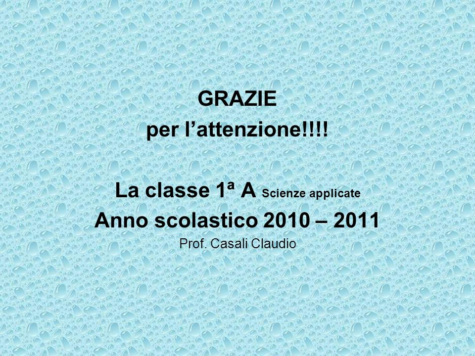La classe 1ª A Scienze applicate