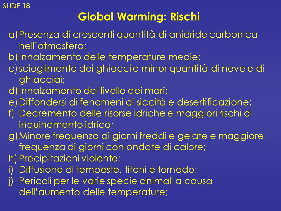 Global Warming: Rischi