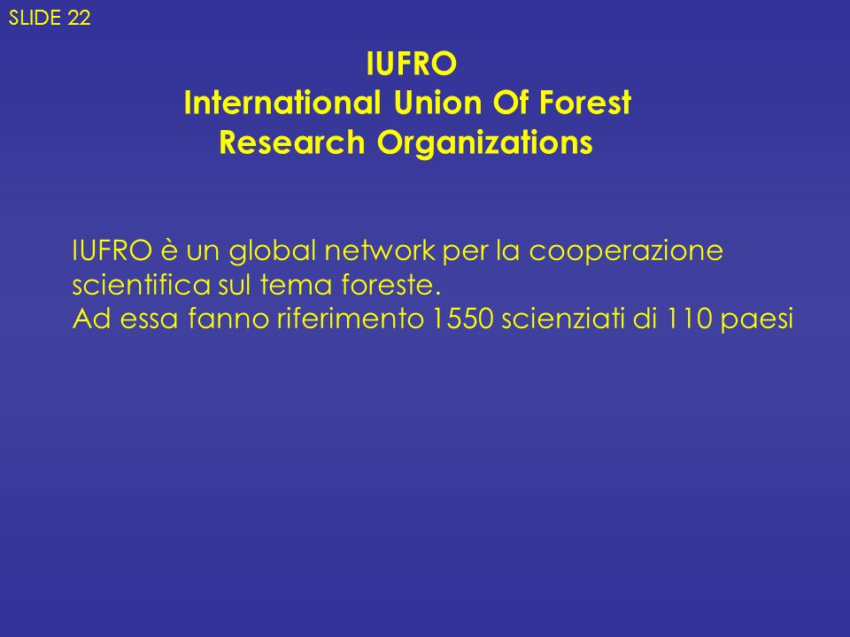 International Union Of Forest Research Organizations