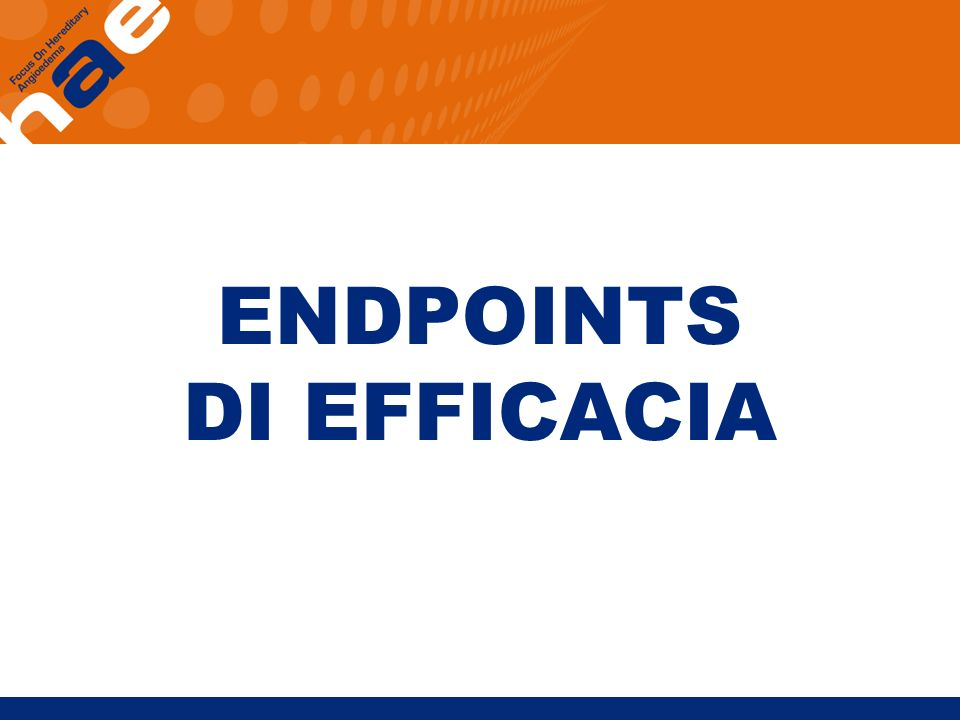 ENDPOINTS DI EFFICACIA