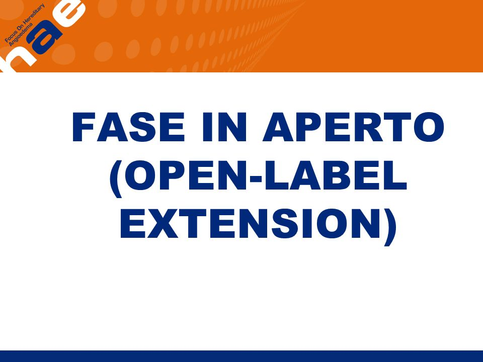 FASE IN APERTO (OPEN-LABEL EXTENSION)